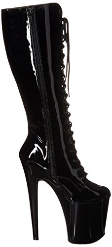 Pleaser XTREME-2020 XTM2020/B/M - Botas de charol para mujer, color negro, talla 45