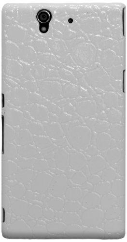 KATINKAS Reptile Design Cover f/Sony Xperia Z Cover Case Blanco - Fundas para teléfonos móviles (Funda, Sony, Sony Xperia...