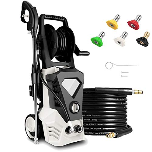 KGK-White-Electric-Pressure-Washer-with-32ft-Cable-Max-26GPM-1800W-3500PSI-High-Pressure-Power-Washer-Machine-with-Spray-Gun-for-Cleaning-HomesBuildingsCarsFencesDecksDrivewaysUS-Stock