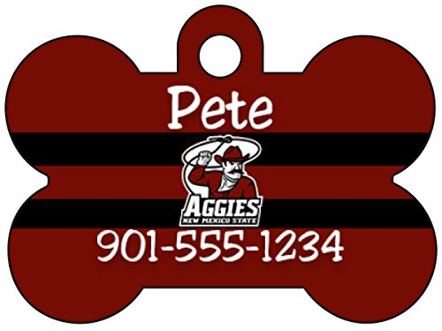 Sun Belt Football Dog Tag Pet Id Tag Personalized w/ Name & Number (New Mexico State Aggies)