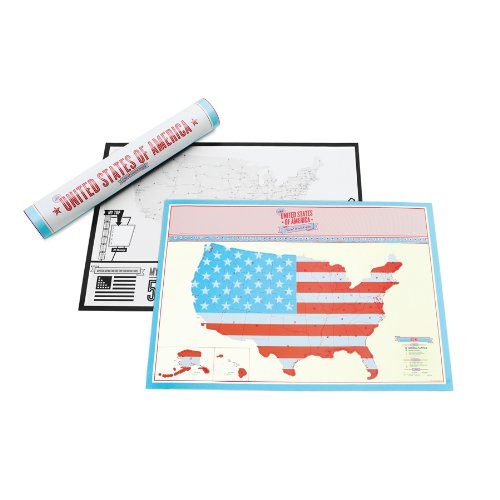 Scratch Map  USA Travel Edition Personalised World Map By Luckies