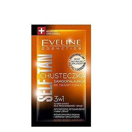 Eveline 3 in1 Self Tan pañuelos toallitas cara y cuerpo Bronzing 1 pcs todo tipo de