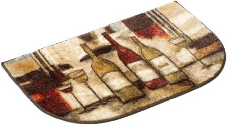 Mohawk Printed Slice Scatter Rug, Wine and Glasses - smallkitchenideas.us
