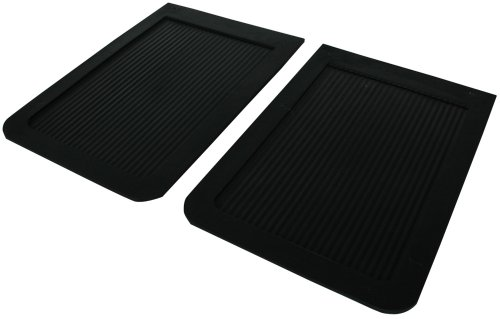 Highland 1007100 Black Heavy Duty Rubber Splash Guard - 2 Piece