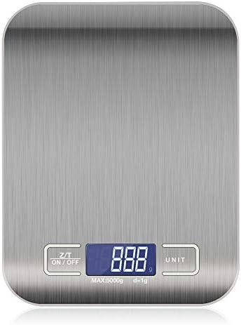 10 kg / 5 kg OZ/ML/LB/G Bilancia da Cucina in Acciaio Inossidabile Bilancia Dieta Alimentare Bilancia Postale Strumento di Misura bilance elettroniche LCD