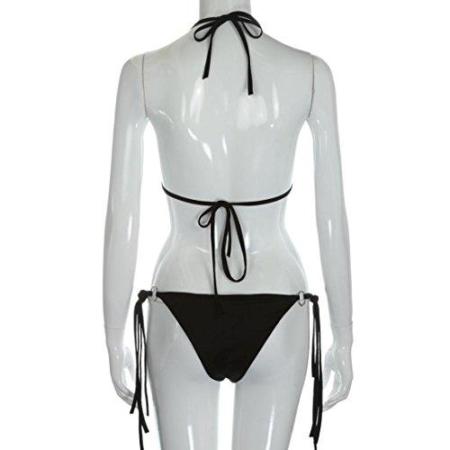 AMUSTER Moda Donna Paillettes Reggiseno Bikini Set Push Up Spiaggia Swimwear Costume Da Bagno
