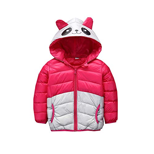 5T Boys red Snowsuit Fairy Girl Panda Jacket Baby Winter 4 Coat Warm Size red Cartoon Outwear Little Egq64