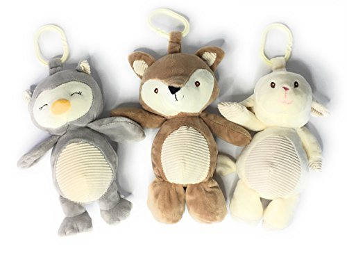 KellyToy Woodland Baby Animals Bundle Gift Set Includes Fox Lamb and Owl [並行輸入品]   B077QDDHZP