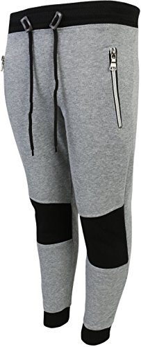 Galaxy by Harvic Boys Active Fleece Jogger Pant w/Side Panel, Heather Grey/Black, (La Galaxy Training)
