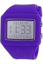"""Juicy Couture Women's 1900988 """"Chrissy"""" Purple Silicone Band Digital Watch"""