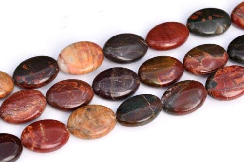 10x6mm Multicolor Picasso Jasper Flat Oval Grade Natural Loose Beads 15.5'' Crafting Key Chain Bracelet Necklace Jewelry Accessories Pendants