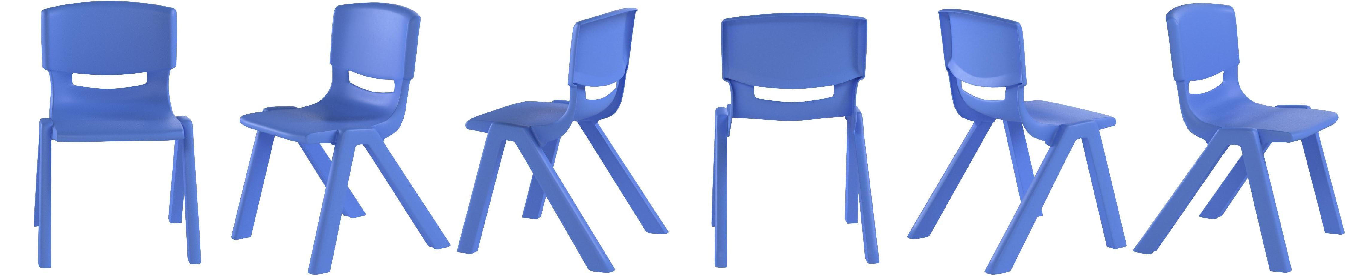 DANIEL JAMES Housewares Kids Plastic Chairs Stackable Nursery Coloured Party Play Garden Indoor Outdoor Blue, 1