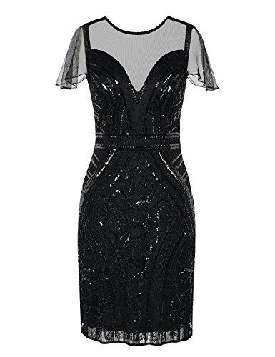 black gatsby dress - 1