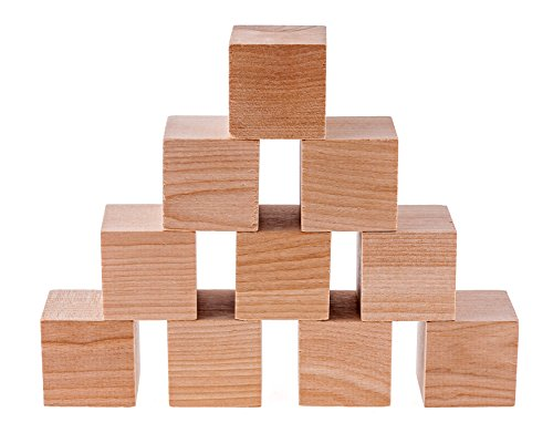 diycrew plain blank natural unfinished wooden blocks 1 5 inch 32 pack new ebay. Black Bedroom Furniture Sets. Home Design Ideas