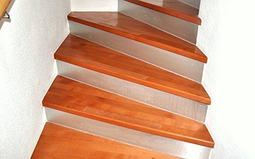 15 pezzi di strisce antiscivolo per scale trasparente trasparente