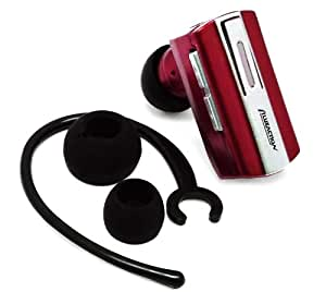 Importer520(TM) wireless bluetooth BT headset headphone earphone earpiece with dual pairing For LG Octane VN530 - Red
