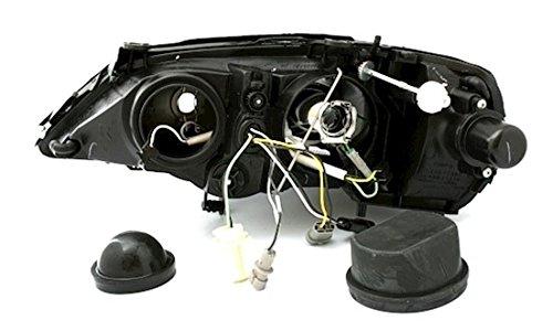 AD Tuning GmbH /& Co KG DEPO Faro Set Transparente Cristal Negro con LED Luz Diurna