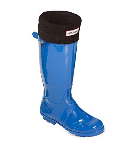Blue Wellington Boots Warm Ladies Festival Rain 9 Original Wellies Winter Black UK Sizes Tall 3 OAFSw0