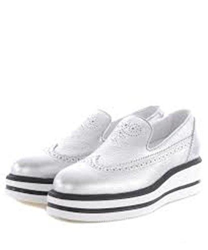 Hogan Chaussures Skate Argent HXW3230X780ES9B200 Femme De Cuir xUvxZ