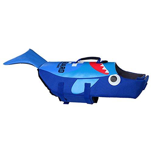 Artiron Dog Life Jacket Pet Floatation Vest Dog Lifesaver Dog Safety Swimsuit Preserver with Reflective Stripes/Adjustable Belt for Small Medium and Large Dogs(M, Blue) (Pet Jacket)