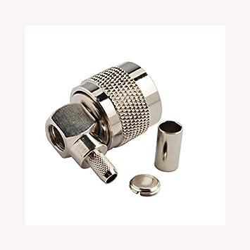 PC-Case 2pcs RF Electronics alambre Terminal Cable Coaxial conector de aleación de cobre (