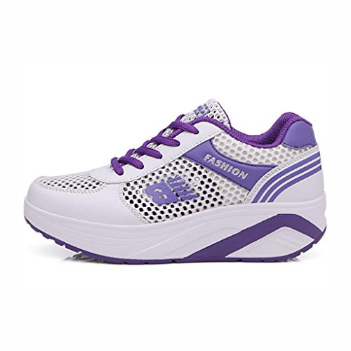 Mesh Damenschuhe C Fashion Laufschuhe Schuhe Farbe Breathable Lässige Sneakers B Sommer 38 Openwork Dicksohlen Travel YaXuan Outdoor Größe wqXRWS7W
