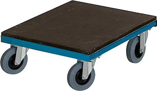 Schwarz Transportgeräte Handtransportgeräte, Transporthund, Ladefläche Holz 4 Lenkräder Vollgummi 125 x 37 mm, ral 6000 patinagrün, 50 x 50 x 20 cm, 1016205