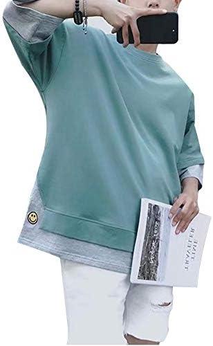Tシャツ メンズ 半袖 無地 速乾 おおきいサイズ 七分袖 五分袖 おしゃれ 薄手 春服 夏服 カジュアル プルオーバー トップス