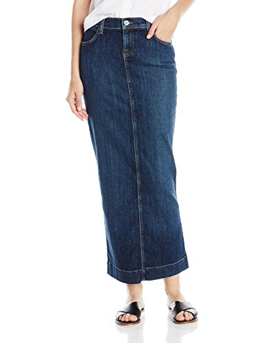 Baldwin Women's Kendall Denim Maxi Skirt Sky Valley Medium Indigo, Sky Valley Medium Indigo, 30 (Straight Denim Skirt)