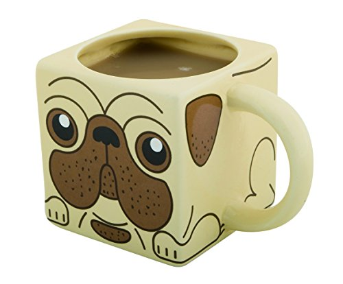 Spinning Hat Pug Tea and Coffee Mug