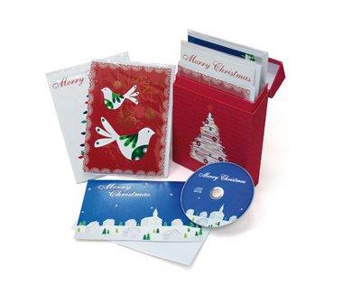 2 cajas de 6 tarjetas navideñas todas con CD villancicos Original artistas de Navidad interior: Amazon.es: Hogar
