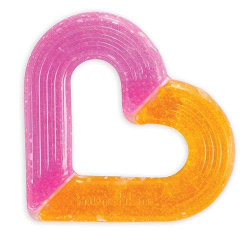 Munchkin Ice Heart Gel Teether, Pink/Orange