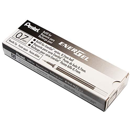 Pentel Refill Ink for EnerGel Liquid Gel Pen, 0.7mm, Needle Tip, Black Ink, 1 - Pack (LRN7-A)