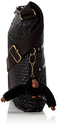 Bandolera Kipling Para Bolso Mujer black Alvar Emb Scarlet Negro EqTTxBn