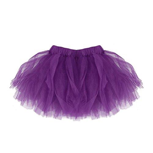 Tutu Ballet Jupe, Lenfesh Fantaisie Jupes plisses de Haute qualit pour Les Femmes Filles Violet