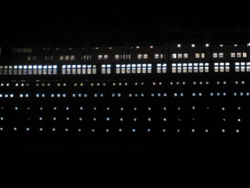 SS United States Limited 40'' w/ LED Lights - Wood Cruise Ship Replica - Model C