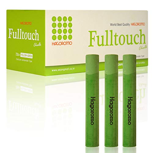 (HAGOROMO Fulltouch Color Chalk 1 Box [72 Pcs/Yellow Green])