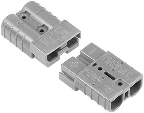 Grey uxcell 6 Gauge Battery Quick Connect Disconnect 50A Wire Connector for Winch Auto Car Trailer Driver 2pcs