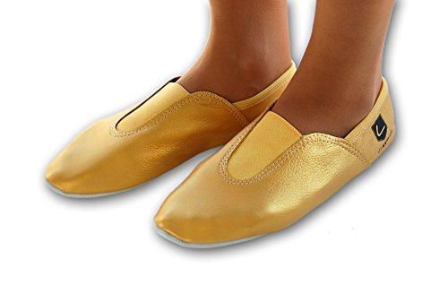 Lappa.de - Zapatillas de danza de Piel para mujer dorado dorado
