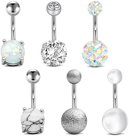 Zipper Belly Button Ring 14g Surgical Steel