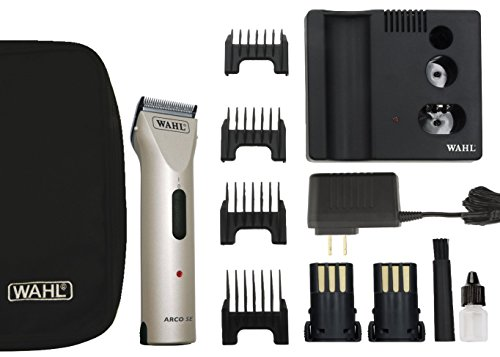 (WAHL Professional Animal Powerful Motor ARCO Cordless Clipper Kit with Bonus Blade Brush Included (Chrome))