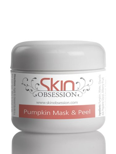 Skin Obsession Pumpkin Enzyme Mask Peel with Glycolic Acid ~ Reduces Acne Scars, Pimples, Wrinkles, Dark Circles, Fine Lines, Acne