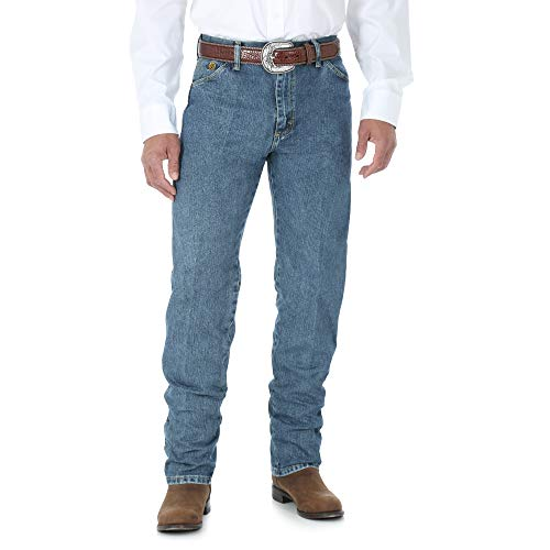 Wrangler Men's George Strait Cowboy Cut Original Fit Jean, Greyed Denim, 34W x 34L