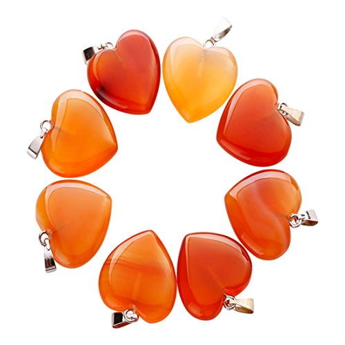 Charms Natural red Onyx Stone Love Heart Shape Bead Pendant 20mm for Jewelry Making Free (25)