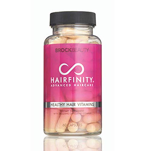 Hairfinity Healthy Hair Vitamins - Scientifically formulated with Biotin, Amino Acids, and Capilsana Complex for Longer, Stronger Hair - Vegan - 60 Veggie-Capsules (1 Month Supply)