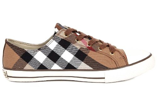 Scarpe Sneakers Marrone Burberry Uomo In 3201707Amazon Cotone Cod 4AR3qj5L