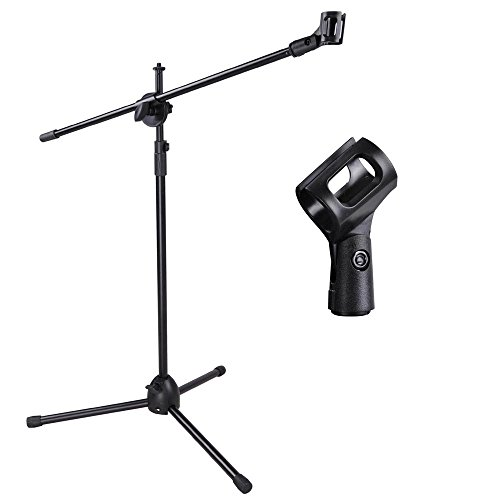 (Adjustable Microphone Stand Boom Arm Mic Mount Quarter-Turn Clutch Tripod Holder Audio Vocal Stage)