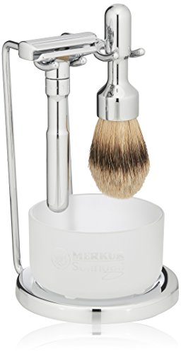 - Merkur Futur 4-Piece Shaving Set, Polished Finish