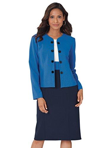 AmeriMark Color Block Jacket Dress Navy