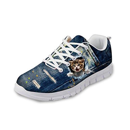 HUGS IDEA Cat Eyes Pattern Cute Womens Casual Sneakers Comfort Running Shoes Kitten 3 oABpWBChm